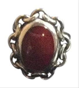 Mexican Silver Ring with Red Coral