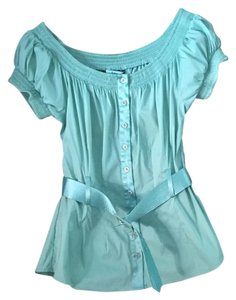 Marciano Belted Top Teal