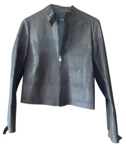 Elie Tahari Brown Leather Jacket