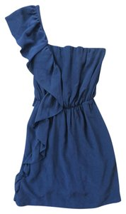 Topshop Silk One Shoulder Dress
