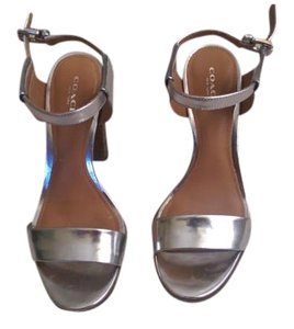 Coach Silver Pumps