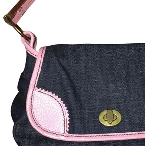 Miu Miu Satchel in Dark Blue & Pink