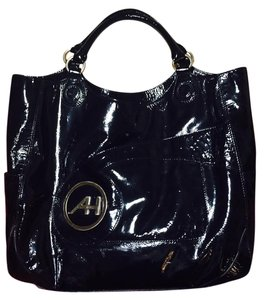 Anya Hindmarch Patent Leather Tote in Black
