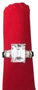 Maddy Emerson Stunning Emerald Cut CZ Cocktail RIng