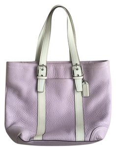 Coach Satchel in Lavender/white