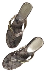Coach Gold/brown Sandals