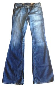 AG Adriano Goldschmied Belle Casual 34 Inches Flare Leg Jeans-Medium Wash