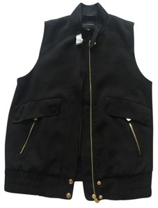 Club Monaco Gold Hardware Zipper Vest