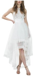 Caribbean Queen Hi Lo Sheer Formal Night Out Bridal Dress
