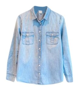 J.Crew Chambray Button Down Shirt Denim