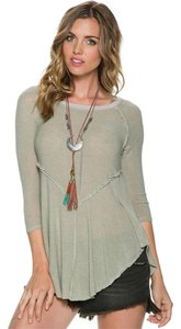 Free People Slouchy Lounge T Shirt Sage