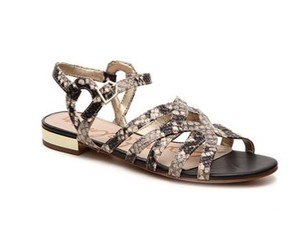 Sam Edelman Putty Snakeskin Print Sandals