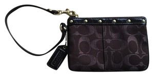 Coach Wristlet in Brown/gold