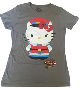 Sanrio Street Fighter Street T Shirt Gray