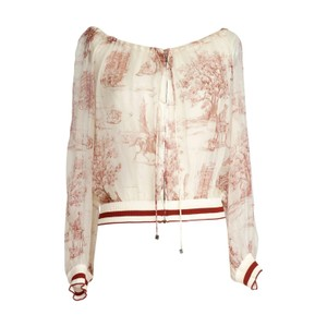 Hermès Vintage Vintage Top White Red