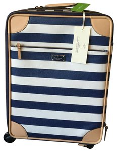 Kate Spade Navy Blue, White Travel Bag