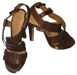 Bottega Veneta Brown Platforms