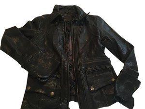 Banana Republic Leather Motorcycle Brown Leather Jacket
