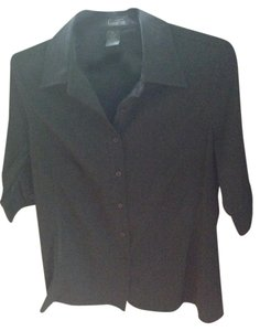 Frenchi Button Down Shirt Black