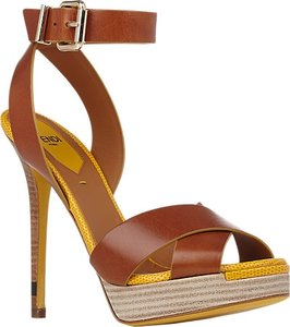 Fendi Cognac Platforms