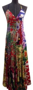 Blue,Red, Yellow, Green, White Maxi Dress by Ralph Lauren Silk Maxi