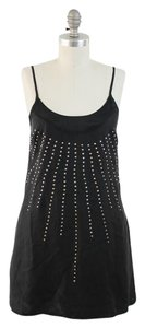 A|X Armani Exchange Silk Sexy Studded Tunic Cocktail Dress