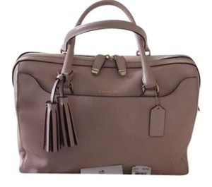 Coach Leather Satchel in Soft Pink