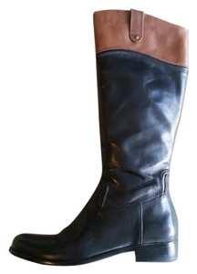 Corso Como Vintage Leather Riding Boot Black & Brown Boots