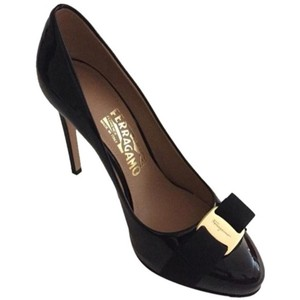 Salvatore Ferragamo Platform Black Pumps