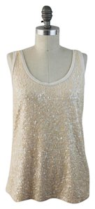 J.Crew Sequin Sleeveless Top Ivory