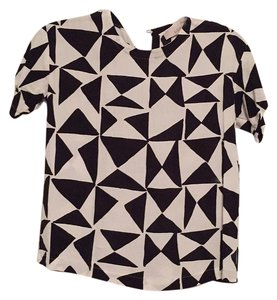 Ann Taylor LOFT Top Black and white