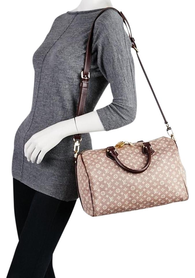 227bf4112cd7 Louis Vuitton Speedy Idylle Monogram Bandouliere 30 Sepia Canvas Leather  Cross Body Bag
