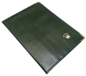 Rolex Rolex Wallet Green Leather With Gold Trim. Comes With A Free Gift!!!