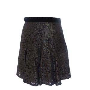 Anna Sui Lace Mini Skirt Black and Gold
