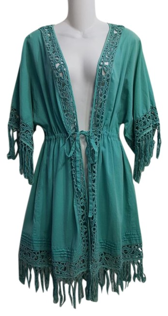 Item - Turquoise / Style # 1054 Cover-up/Sarong Size 16 (XL, Plus 0x)
