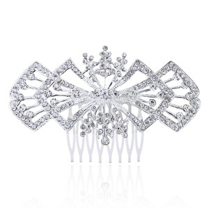 Bridal Wedding Engagement Clear White Rhinestone Bridesmaid Prom Accessories Bling Jewelry Austrian Crystal Hair Comb
