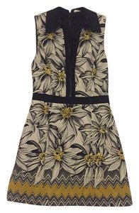 Alice + Olivia short dress Black, white, yellow on Tradesy