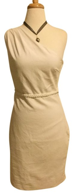 Item - White Above Knee Night Out Dress Size 6 (S)