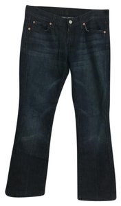 7 For All Mankind Rinse Designer Boot Cut Jeans-Dark Rinse