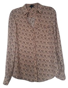 The Limited Dress Shirt Top Pink with pattern
