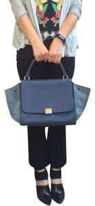 Céline Hermes Valentino Chanel Trapeze Tote in Navy