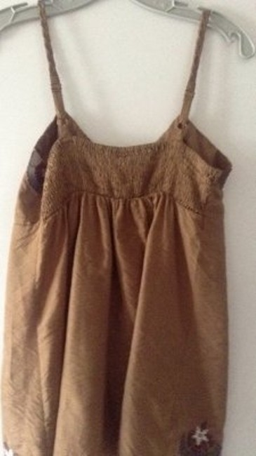 Only Mine Cute Embroidery With Rope Straps Top brown