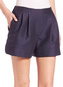 3.1 Phillip Lim Bloomer Silk Bloomer Shorts navy