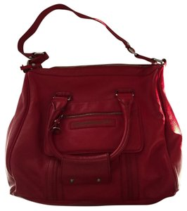 Marc by Marc Jacobs Leather Satchel in Bright Red