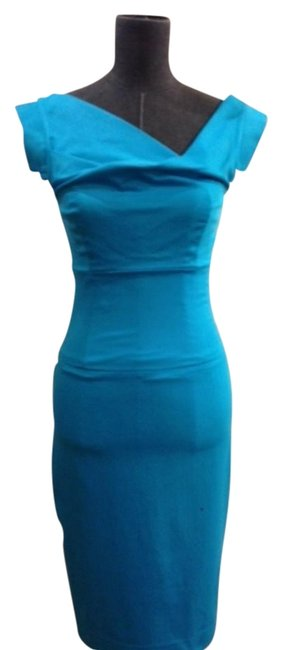 Item - Turquoise Jackie Knee Length Night Out Dress Size 2 (XS)