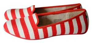 UGG Australia Red and white striped Flats