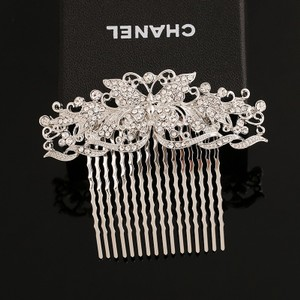 Butterfly Dreamy Cluster Pearl Flower Small Vine Vintage Romantic Branch Bridal Wedding Engagement Clear White Prom Hair