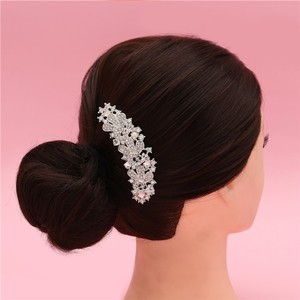 Dreamy Cluster Pearl Flower Small Vine Vintage Romantic Branch Bridal Wedding Engagement Clear White Rhinestone Prom