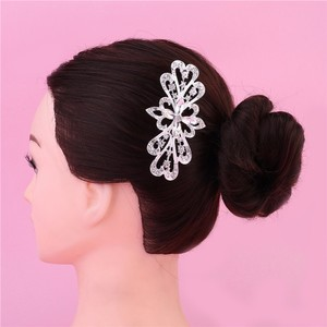 Curve Cluster Pearl Flower Small Vine Vintage Romantic Branch Bridal Wedding Engagement Clear White Rhinestone Prom Hair