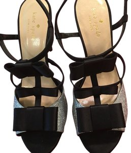 Kate Spade Sandals Black and silver Formal